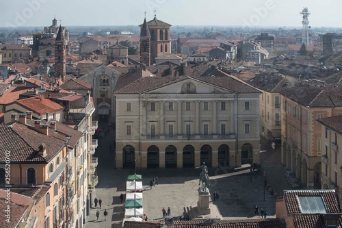 Panorama of Casale Monferrato 10 March 2019 from the Civic Tower Canvas Print