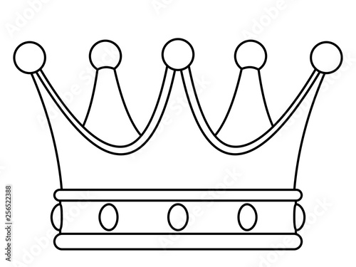 Crown contour illustration Fototapeta