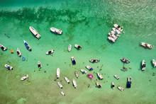 Spring Break Boat Party On The Sandbar In The Florida Keys