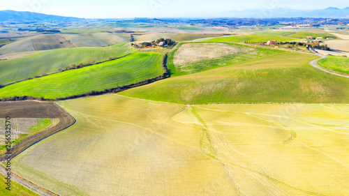 Wall Murals Melon Drone view of Tuscany countryside, Italy