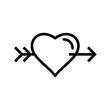 Illustration Heart Cross Arrow Icon