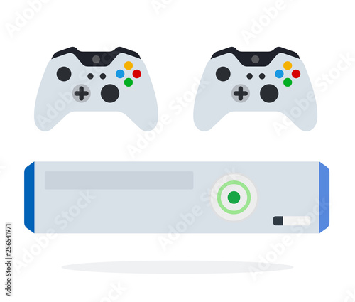Game console with controllers vector icon flat isolated Wallpaper Mural