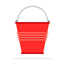 Red Bucket To Extinguish The F...
