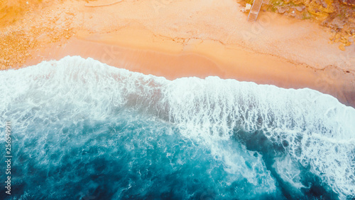 Aerial View of Waves and Beach Along the Great Ocean Road Australia
