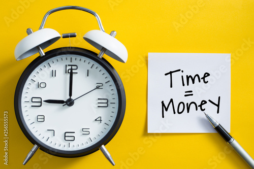 Pinturas sobre lienzo  Time is money concept
