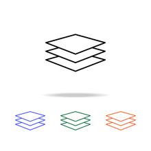 Button Layers Icon. Elements Of Simple Web Icon In Multi Color. Premium Quality Graphic Design Icon. Simple Icon For Websites, Web Design, Mobile App, Info Graphics