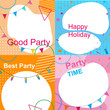 Set of Multicolored Festive Photo Frames for Party