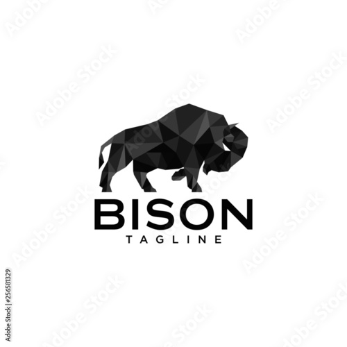 Leinwand Poster Bison Logo Templates