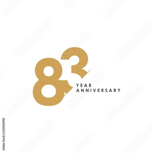 Fotografia  83 Year Anniversary Vector Template Design Illustration
