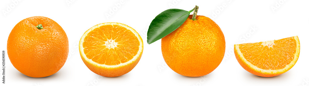 Fototapeta orange isolated on white