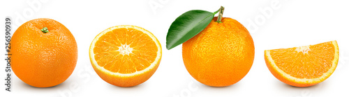 Fényképezés orange isolated on white
