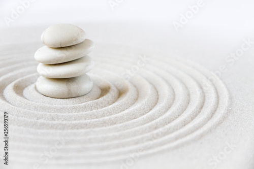 Poster Stenen in het Zand Zen japanese garden background