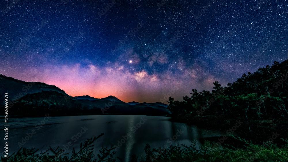 Fototapety, obrazy: Milky Way and starry night sky.