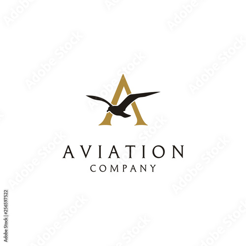 Flying Bird logo design Tapéta, Fotótapéta