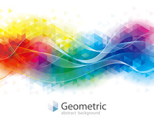 Colorful Geometric And Wave Ab...
