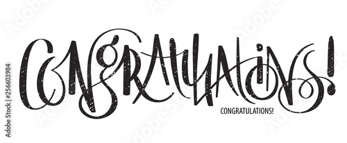 Valokuva  CONGRATULATIONS brush calligraphy banner