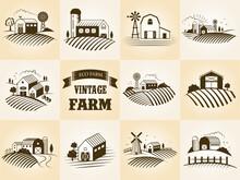 Set Of Vintage Eco Farm Label,...