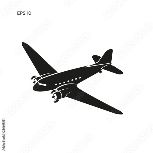 Old vintage piston engine airliner. Wallpaper Mural