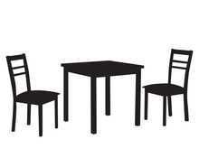 Silhouette Of A Chair And Two Chairs