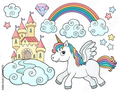 Unicorn and objects theme image 2