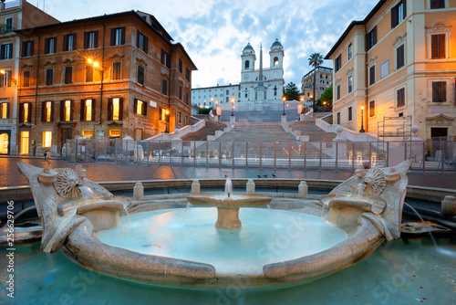 Garden Poster Rome Spanish Steps and Fontan