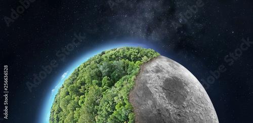 Vászonkép Space colonization