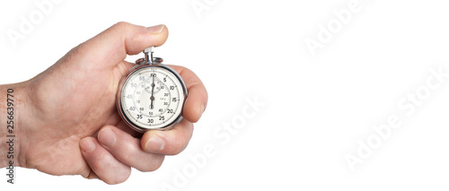 Valokuva  Tempo - Hand hält Stoppuhr