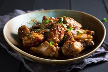 Teriyaki Chicken Wings With Se...
