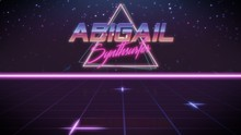 First Name Abigail In Synthwave Style