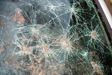 Abstract Image Of Broken Glass Texture, Background