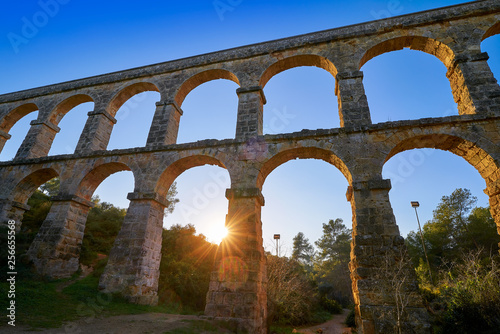 Fototapeta Aqueduct Pont del Diable in Tarragona