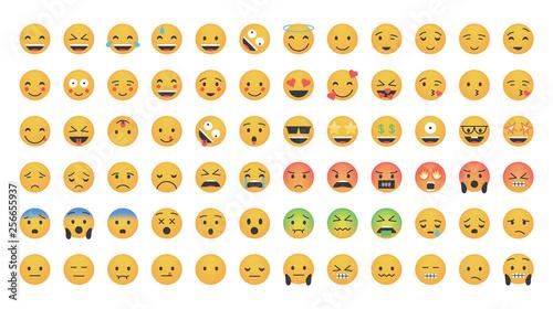 Fotografie, Obraz  Big set of emoticon vector