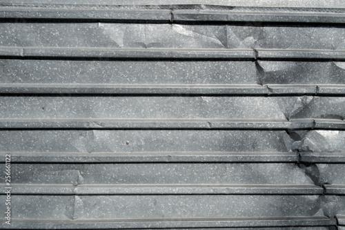 Valokuva  Corrugated metal texture surface background