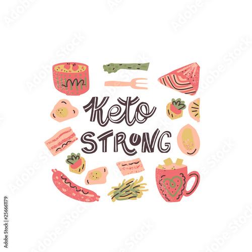 Photo Ketogenic meals vector set