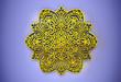 3D render, golden mandala on background. Elegant design background. - Illustrazioni
