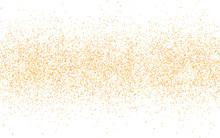 Golden Glitter Sparkle On A Tr...