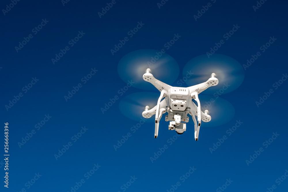 Fototapety, obrazy: Dron seen from below.