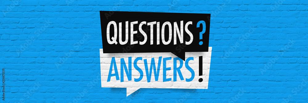 Fototapeta Questions answers