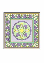 Square With Purple Circular Pattern