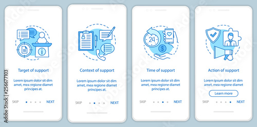 Photo  Corporate social responsibility onboarding mobile app page screen vector templat