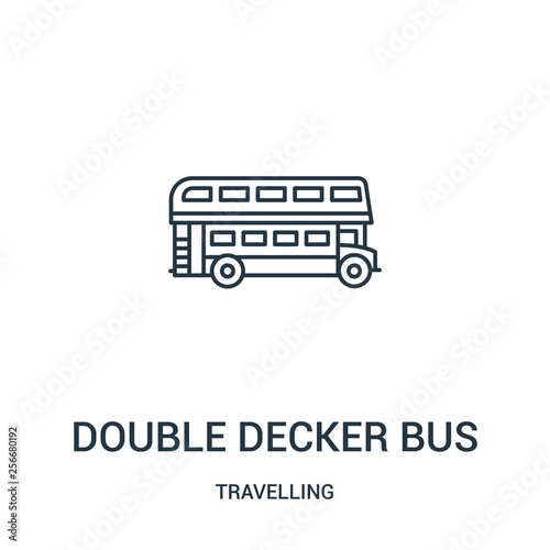 Fotografía double decker bus icon vector from travelling collection