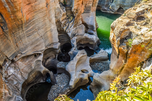 Rock formation in Bourke's Luck Potholes in Blyde canyon reserve Wallpaper Mural