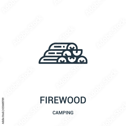 firewood icon vector from camping collection Fototapeta