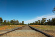 Railway in australian red desert.