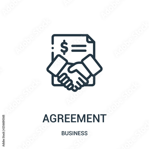 agreement icon vector from business collection Wallpaper Mural