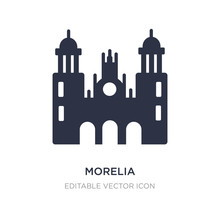 Morelia Cathedral In Mexico Icon On White Background. Simple Element Illustration From Monuments Concept.