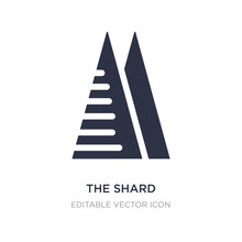 The Shard Icon On White Backgr...