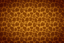 Yellow And Brown Giraffe Skin, Wide Detailed Background