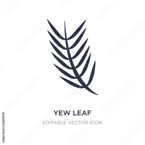 Fototapeta yew leaf icon on white background
