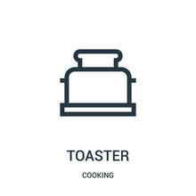 Toaster Icon Vector From Cooki...